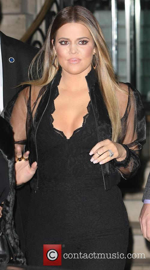 Khloe Kardashian leaving her hotel