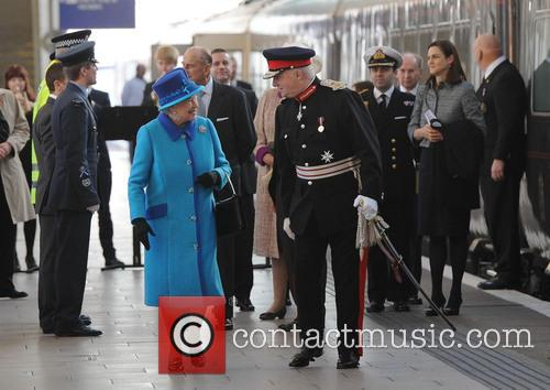Queen Elizabeth II, Prince Philip, Duke of Edinburgh, Manchester Piccadilly station