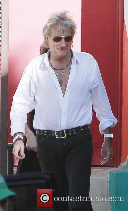 Rod Stewart walks to School