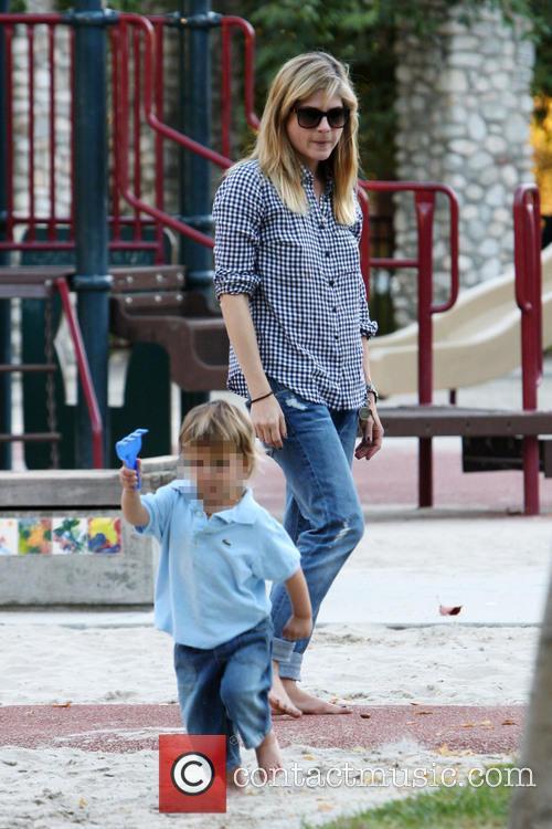 Selma Blair And Son Play At The Park