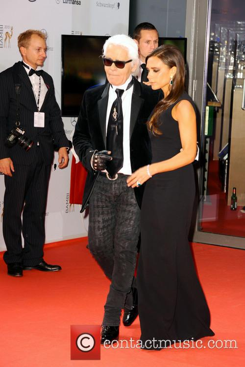 Karl Lagerfeld and Victoria Beckham 2