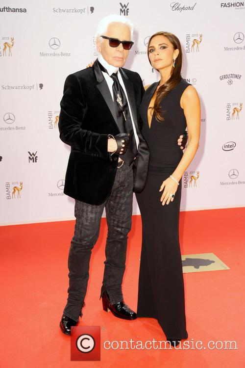 Karl Lagerfeld and Victoria Beckham 3