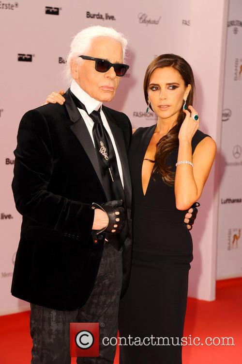 Karl Lagerfeld and Victoria Beckham 7