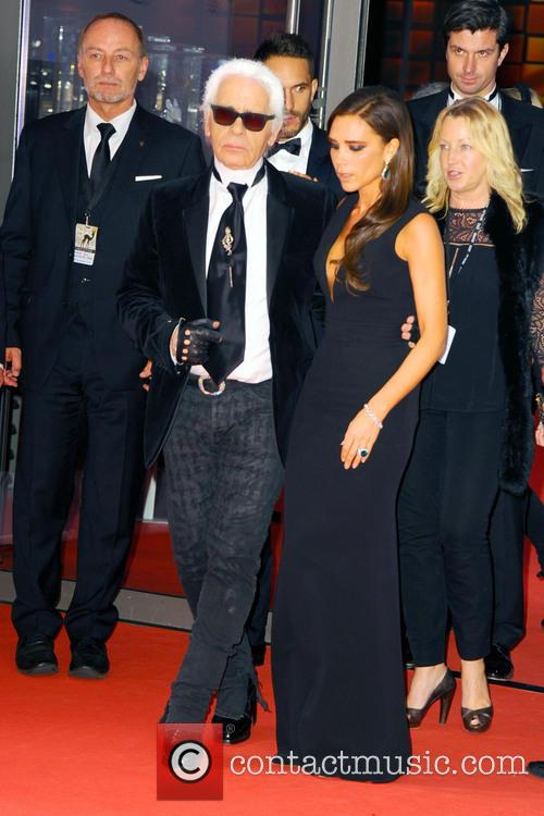 Karl Lagerfeld and Victoria Beckham 1