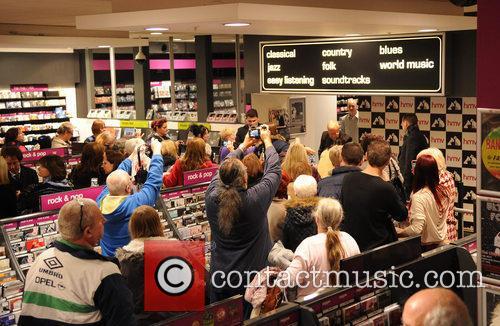 Sir Cliff Richard at HMV Manchester
