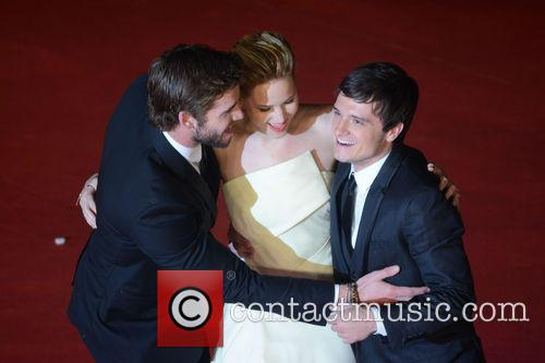 Jennifer Lawrence, Liam Hemsworth and Josh Hutcherson 2