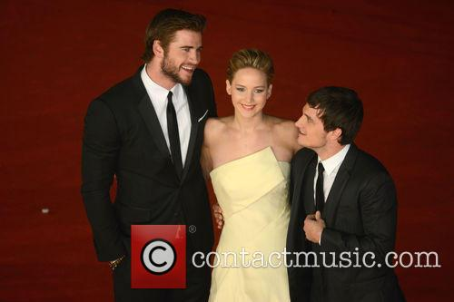 Jennifer Lawrence, Liam Hemsworth and Josh Hutcherson 6