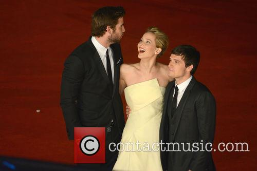Jennifer Lawrence, Liam Hemsworth and Josh Hutcherson 11