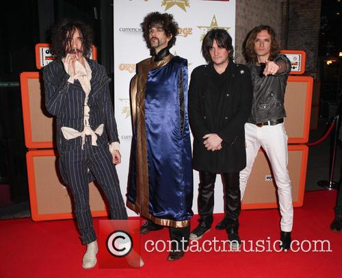 Justin Hawkins, Frank Poullain, Dan Hawkins, Ed Graham and The Darkness 3