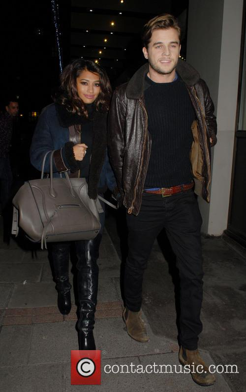Vanessa White Leaving The May Fair Hotel