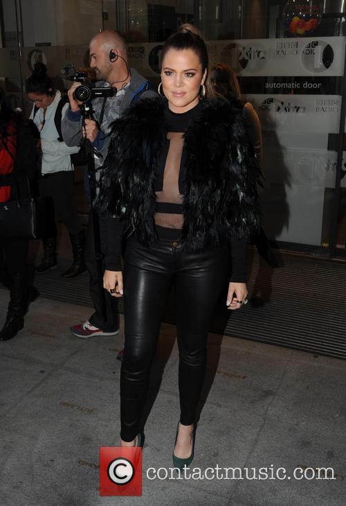 Khloe Kardashian at BBC Radio 1