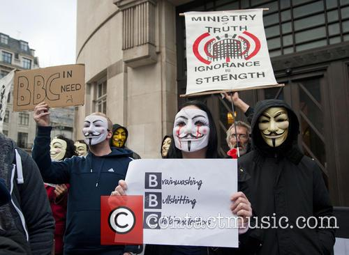 Occupy the BBC protest at Broadcasting House in...