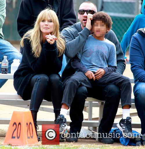 Heidi Klum and family attend a soccer game
