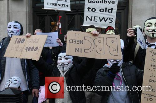 Protest by ' Occupy' at the BBC in...