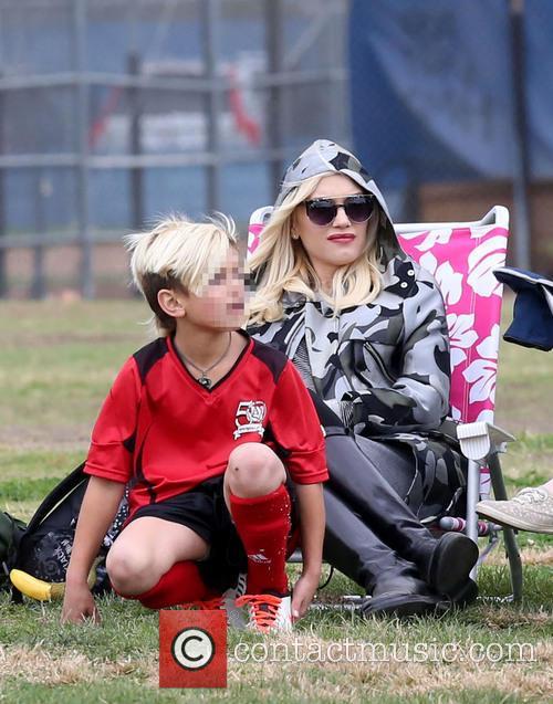 Gwen Stefani attends son Kingston's soccer game
