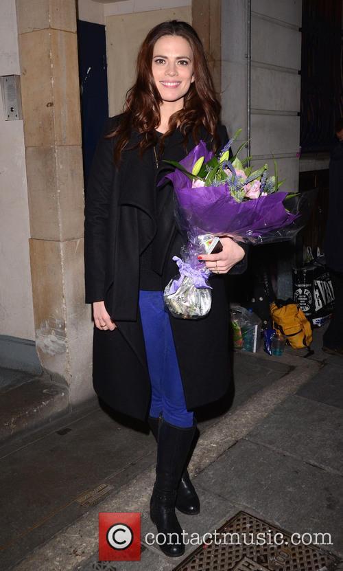 Hayley Atwell leaving the Trafalgar Studios