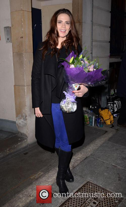 Hayley Atwell leaving the Trafalgar Studios