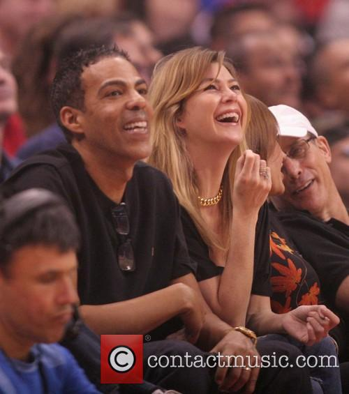 ellen pompeo chris ivery celebrities watch the la 3957886