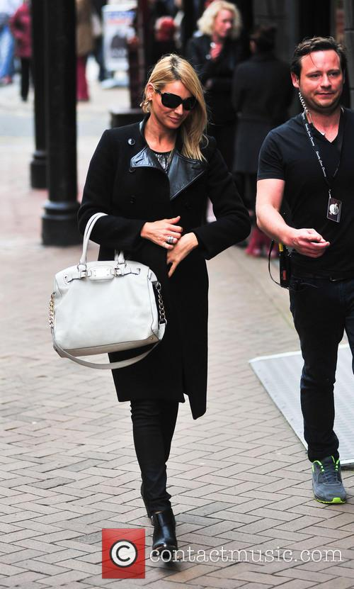 Tess Daly arriving in Blackpool