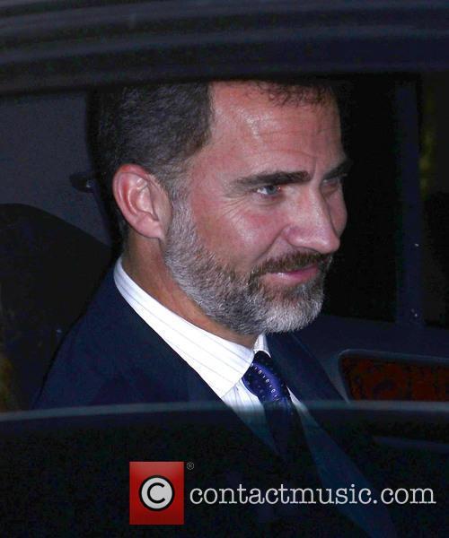Prince Felipe and Princess Letizia of Spain visit...