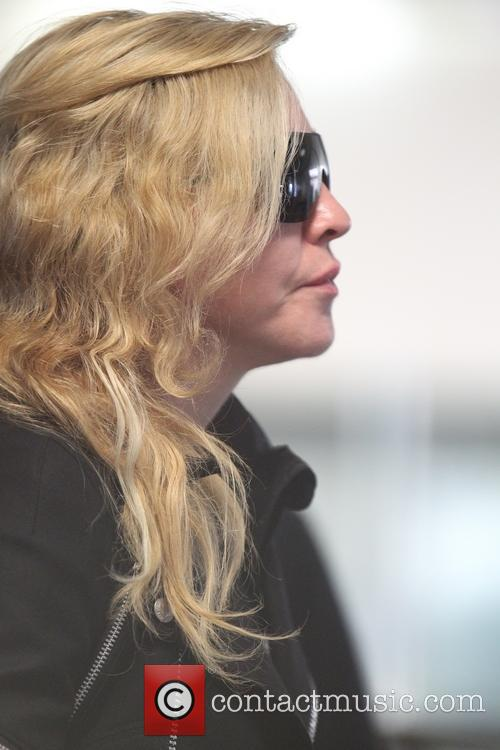 Madonna at LAX for a departing flight