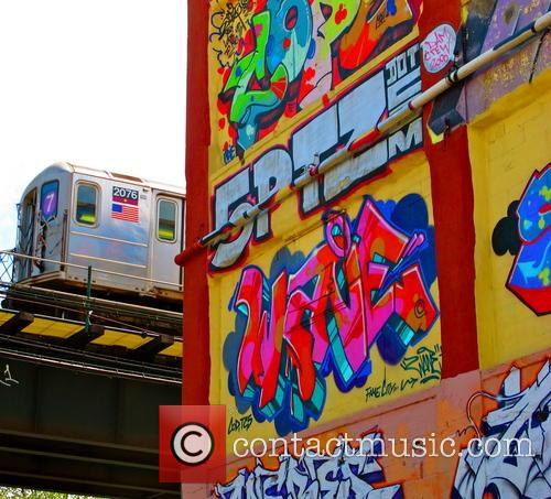 American outdoor art exhibit space 5 Pointz painted...