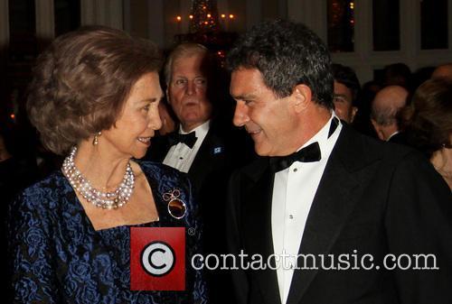 Queen Sofia and Antonia Banderas 2