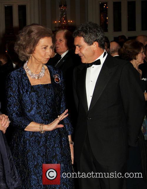 Queen Sofia and Antonia Banderas 1