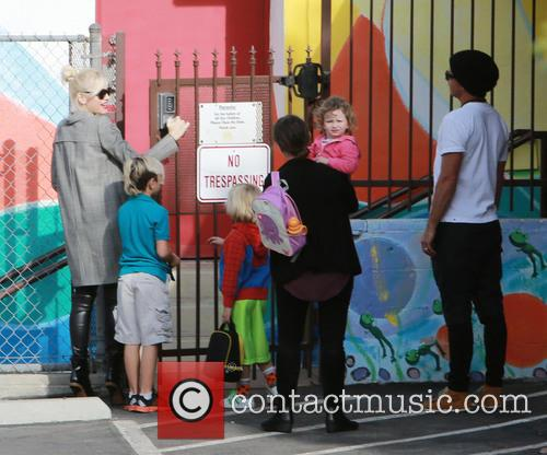 Gwen Stefani, Kingston Rossdale, Zuma Rossdale and Gavin Rossdale 9