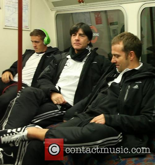 Joachim Loew on the London Underground
