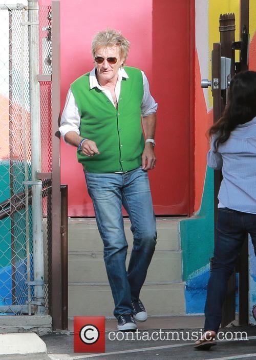 Rod Stewart on a school run