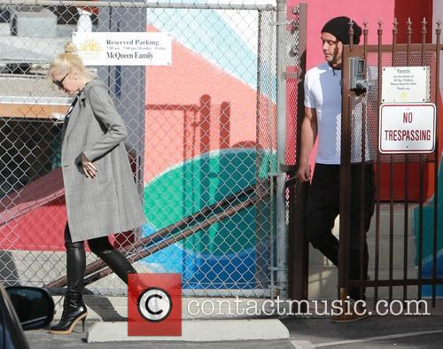 Gwen Stefani and husband Gavin Rossdale on school...