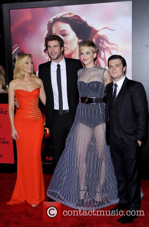 Elizabeth Banks, Liam Hemsworth, Jennifer Lawrence and Josh Hutcherson 3
