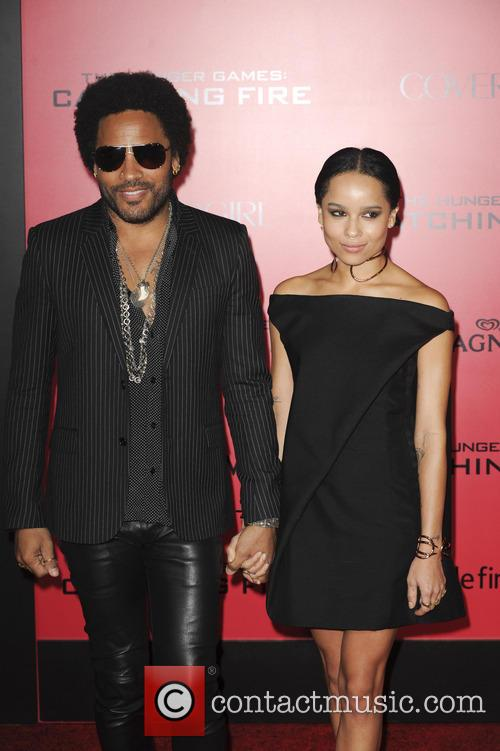 Lenny Kravitz and Zoe 4