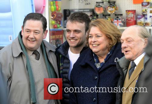 Johnny Vegas, James Baxter, Lynda Barron and David Jason