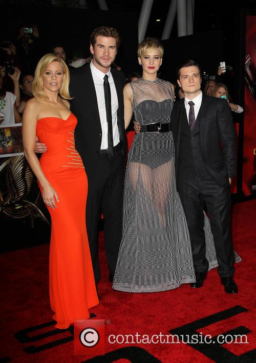 Elizabeth Banks, Liam Hemsworth, Jennifer Lawrence and Josh Hutcherson 5