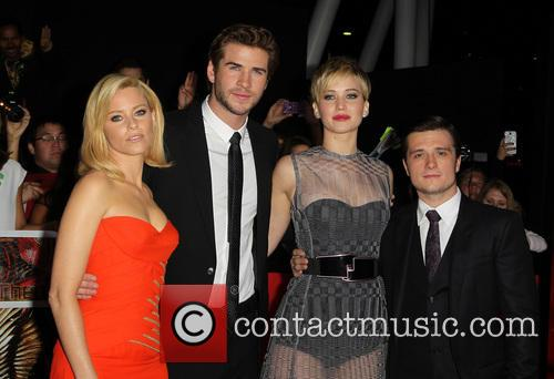 Elizabeth Banks, Liam Hemsworth, Jennifer Lawrence and Josh Hutcherson 7