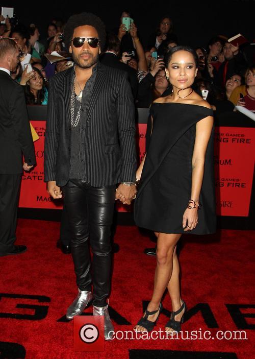 Lenny Kravitz and Zoë Kravitz