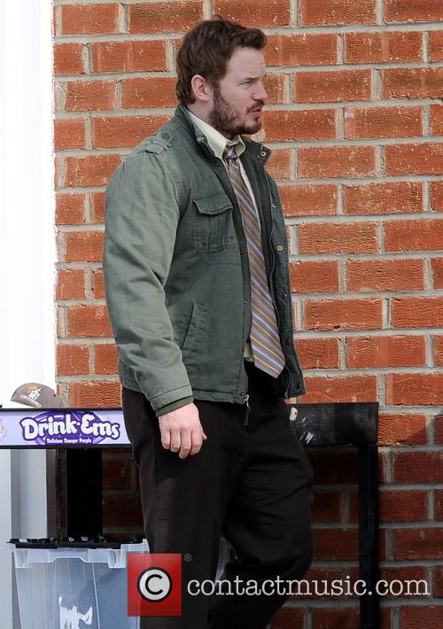 Chris Pratt filming