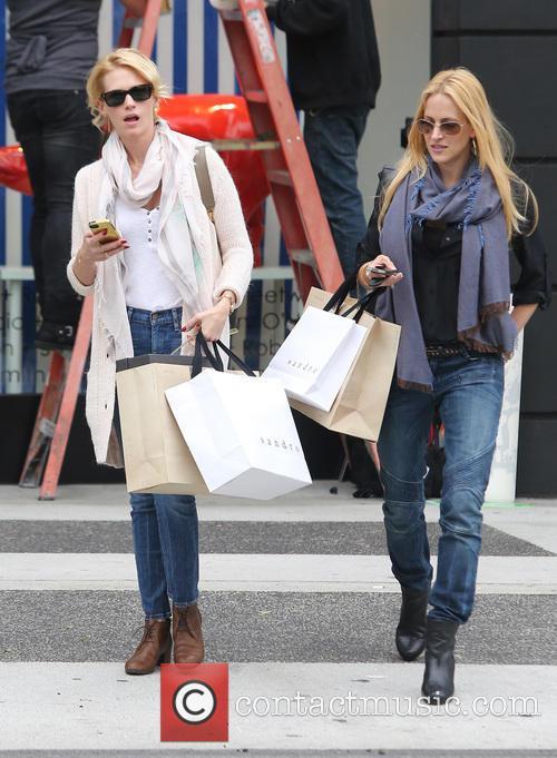 January Jones Shopping In Beverly Hills