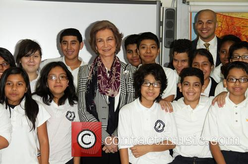 Queen Sofia visits the Bronx