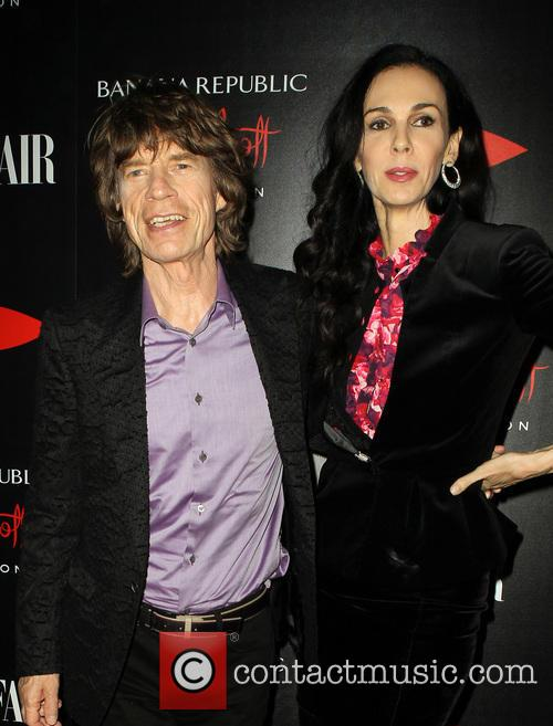 Mick Jagger and L'wren Scott 1