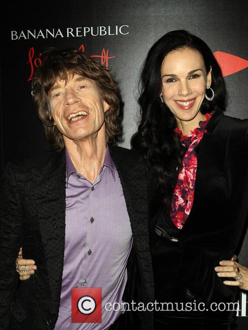 Mick Jagger and L'wren Scott 6