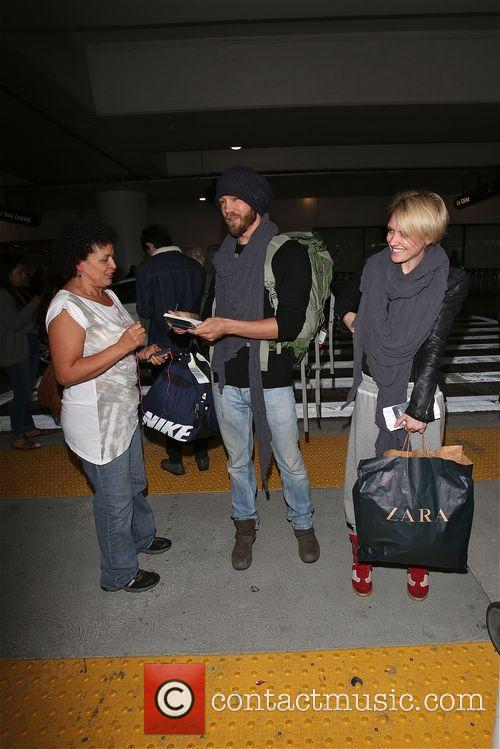 Chad Michael Murray with new girlfriend at LAX