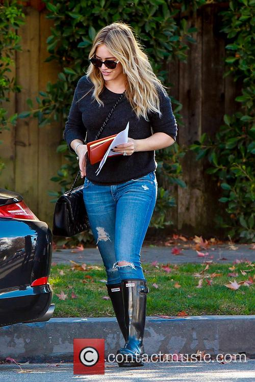 Hilary Duff In Hunter Wellies