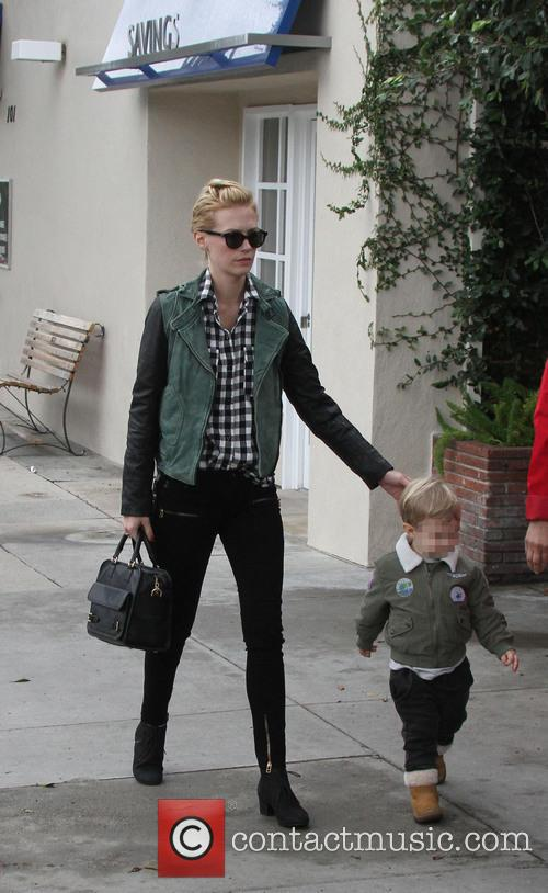 January Jones and Xander 1