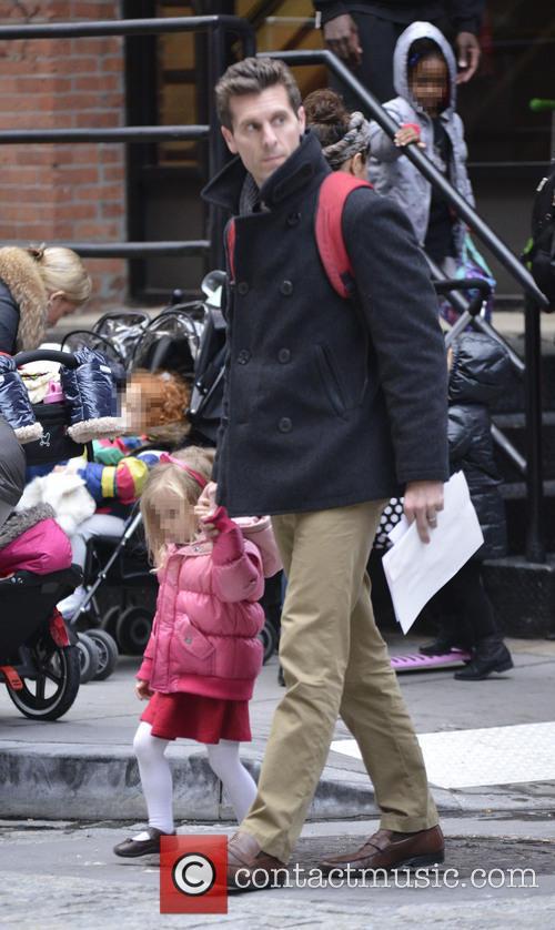 Jason Hoppy picks up daughter Bryn from school