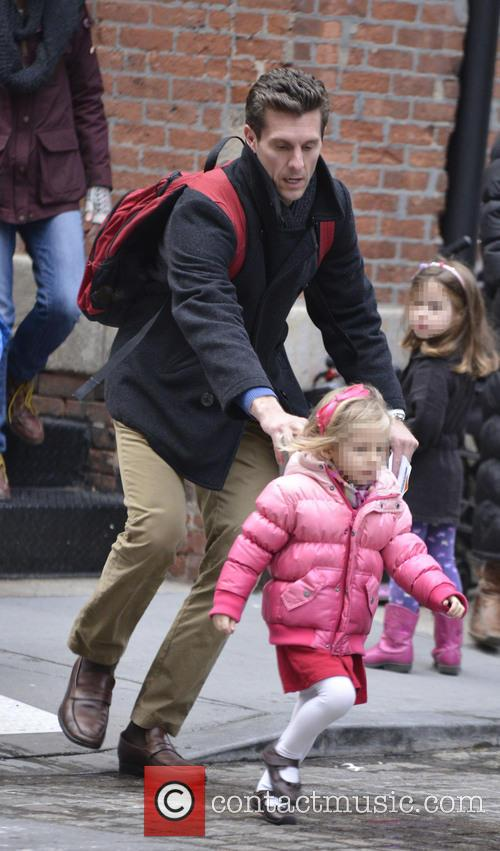 Jason Hoppy picks up daughter Bryn from school