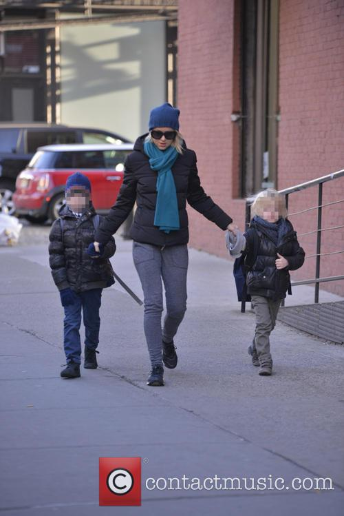 Naomi Watts out and about with with sons...