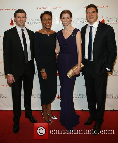 Matthew Reeve, Robin Roberts, Alexandra Reeve Givens and Will Reeve 2